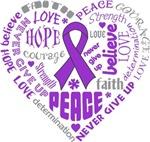 Fibromyalgia Heart Words Slogan Shirts