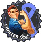 Stomach Cancer Fighter Gal Shirts