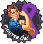 Pancreatic Cancer Fighter Gal Shirts