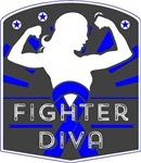 Rectal Cancer Fighter Diva Shirts