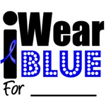 I Wear Blue for Colon Cancer Awareness T-Shirts