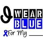 Colon Cancer I Wear Blue Ribbon Shirts & Gifts