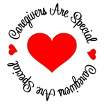 Caregivers Are Special Red Heart T-Shirts