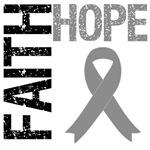 Faith Hope Brain Cancer T-Shirts & Gifts
