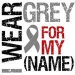 I Wear Grey Brain Cancer T-Shirts & Gifts