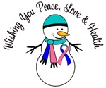 Christmas Snowman Thyroid Cancer Cards & Gifts