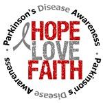 Parkinson's Disease Hope Love Faith Shirts & Gifts
