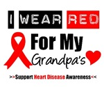 I Wear Red Grandpa Heart Disease Shirts & Gifts