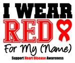 I Wear Red Heart Disease Awareness T-Shirts & Gift