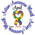 Autism Awareness Month Ribbon Shirts & Apparel