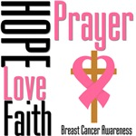 Breast Cancer Prayer Cross Shirts & Gifts