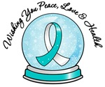 Cervical Cancer Christmas Snowglobe Shirts