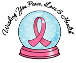 Breast Cancer Christmas Snowglobe Shirts