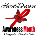 Awareness Butterfly Heart Disease Month Shirts