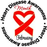 Heart Ribbon For Heart Disease Awareness Month