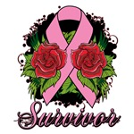 Breast Cancer Rose Tattoo Shirts and Gifts