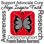 Diabetes Hope Inspire Faith Shirts & Gifts