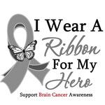 Brain Cancer I Wear Ribbon Hero