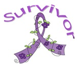 Fibromyalgia Floral Survivor