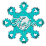 Ovarian Cancer Hope Ribbons