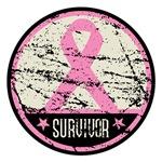 Breast Cancer Survivor Grunge Shirts