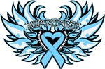 Prostate Cancer Heart Wings Shirts