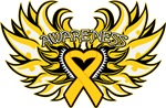 Childhood Cancer Heart Wings Shirts