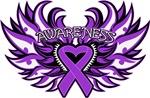 Leiomyosarcoma Heart Awareness Wings Shirts