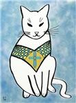 Cat with Cross Design