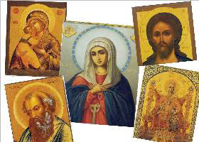 Images of Ancient Icon Paintings