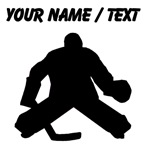 Custom Hockey Goalie Silhouette