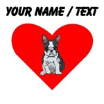 Custom Boston Terrier Heart