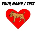 Custom Shar Pei Heart