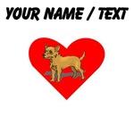 Custom Chihuahua Heart