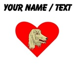 Custom Afghan Hound Heart