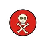 Skull & Crossbones Red Circle