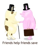 Piggy Bank Friends Help Friends Save (Money)