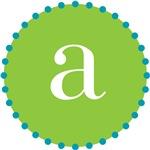 a monogram, lime
