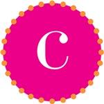 c monogram, pink