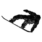 Distressed Snowboarder Silhouette