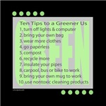 10 Green Tips