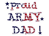Patriotic Proud Army Dad