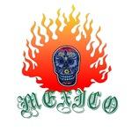 Mexico Flaming Skull T-Shirts