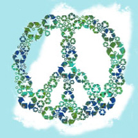 Blue Recycle Peace