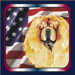 Chow Chow Patriotic US Flag Unique Gifts Items