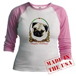 Pug Dog Breed Holiday Just for Juniors Wear