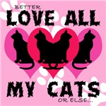 LOVE ALL MY CATS