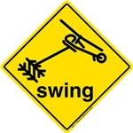 Helicopter Swing Caution Sign