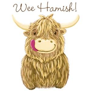 Personalized Scottish Highland Cow
