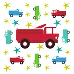 Trucks & Stars - Red